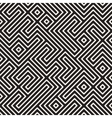 Seamless Black And White Maze Stripes vector image