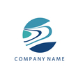 Concept logo template with abstract wave symbol in vector image