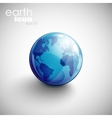 background with globe icon vector image