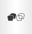 black bread icons vector image