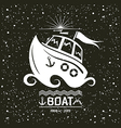 Brave small boat vector image