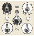 Lab tube glass vintage symbol emblem label vector image