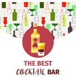 the best cocktail bar banner vector image