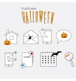 Thin lines web icons set Halloween theme vector image vector image
