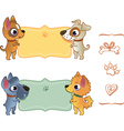 Set banners with dog vector image vector image