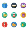Kitchen set icons in cartoon style Big collection vector image