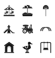 Children games icons set simple style vector image