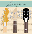 guitar and notes vector image