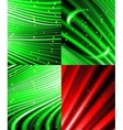 Set of background colourful luminous rays vector image