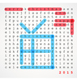 Christmas card - word search puzzle vector image vector image
