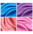 colorful silk backgrounds vector image vector image