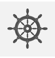 Boat steering wheel icon on white vector image
