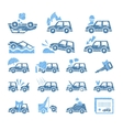 Car Insurance Icons Set in vector image