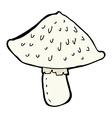 comic cartoon wild mushroom vector image