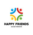 happy friends poster vector image