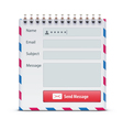 Mail form vector image