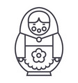 matryoshka line icon sign on vector image