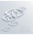 modern eyes background Eps 10 vector image
