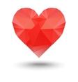 polygonal heart vector image