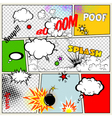 Retro Comic Speech Bubbles vector image