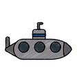 submarine war ship vector image
