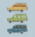 Three Different Colors Of Jeep vector image