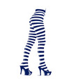 woman in leggings with stripes vector image