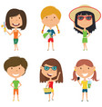 summer female characters vector image vector image