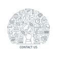 contact us banner thin line3 vector image