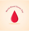 world blood donor day vector image