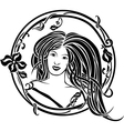 Girl portrait in the Art Nouveau style vector image vector image