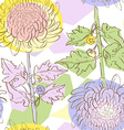 chrysantemum pattern vector image vector image