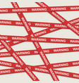 Warning ribbons over gray background vector image