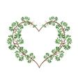 Fresh Black Afara Leaves in Heart Shape vector image