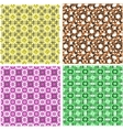 art set of damask patterns vector image