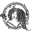 Girl portrait in the Art Nouveau style vector image