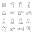 Hotel Icons Line Set vector image