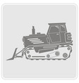 Icon with farm tractor vector image
