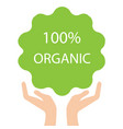 100 organic logo design vector image