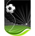 soccer game background vector image