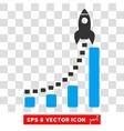 Rocket Business Start Eps Icon vector image