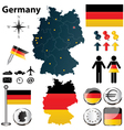 Map of Germany with regions vector image vector image