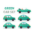 city cars set vector image