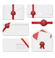 envelopes with a wax seal set vector image vector image