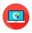 data analytics flat circle icon vector image