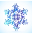 Watercolor blue snowflake vector image