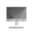 Monitor screen icon abstract vector image vector image