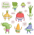 Funny veggies vector image vector image