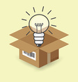 Lightbulb in the box vector image vector image