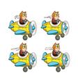 Cartoon Cat Pilot Sprite vector image vector image